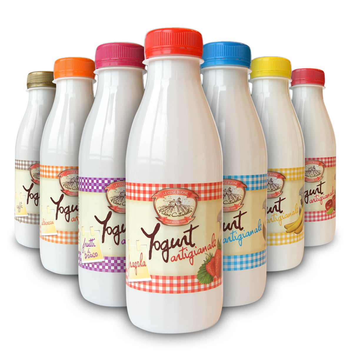 Yogurt Cremoso di gusti assortiti 500g - 12 pz