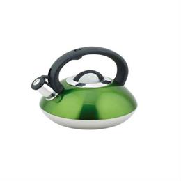 Bollitore con fischietto verde lucido