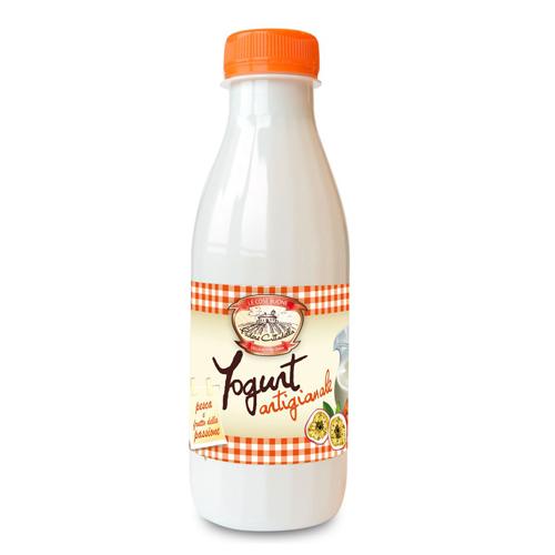 Yogurt pesca e maracuja - Bottigliette da 500ml